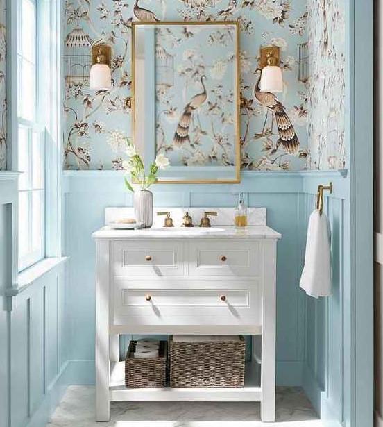 trang trí tường nhà tắm