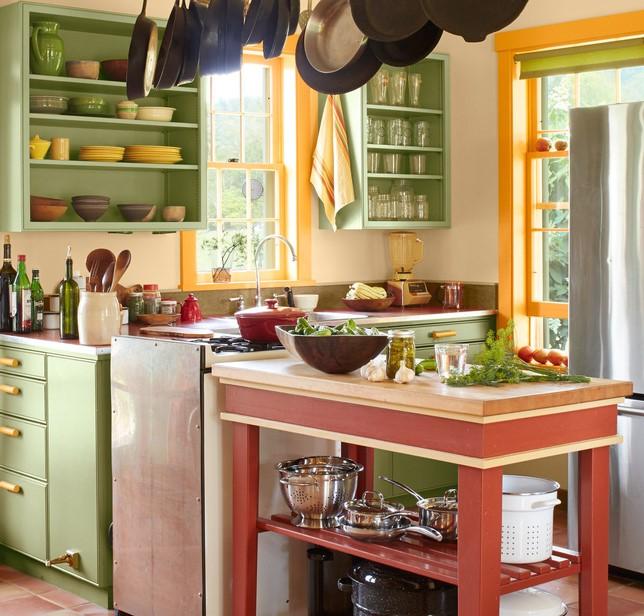 Xanh mượt trong chính những gian bếp của mình