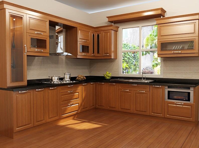 Giá làm tủ bếp gỗ