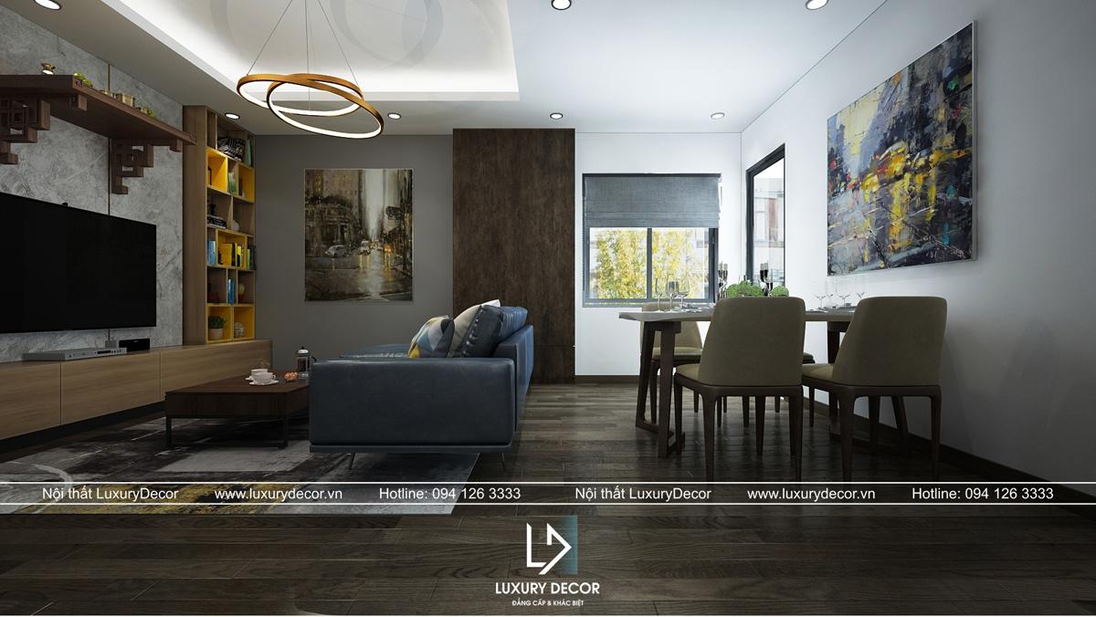 thiết kế nội thất chung cư phòng khách
