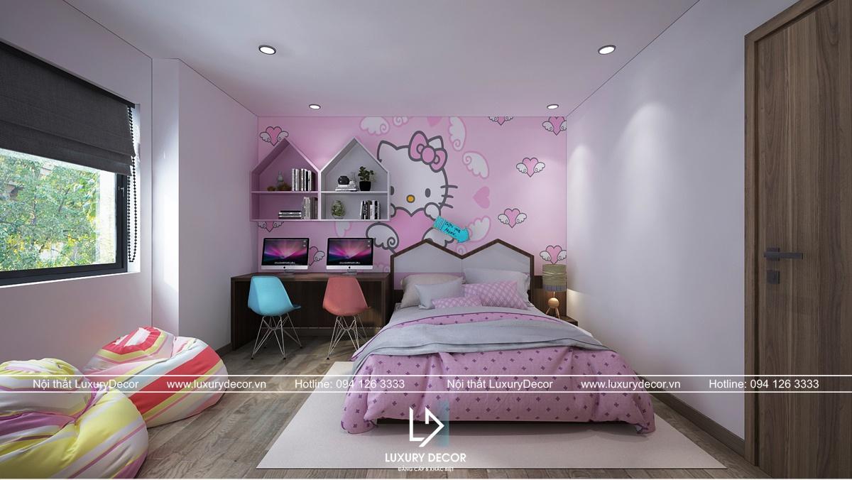thiết kế nội thất chung cư 58m2