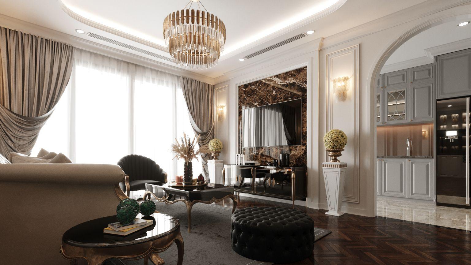 thiết kế nội thất căn hộ vinhomes westpoint